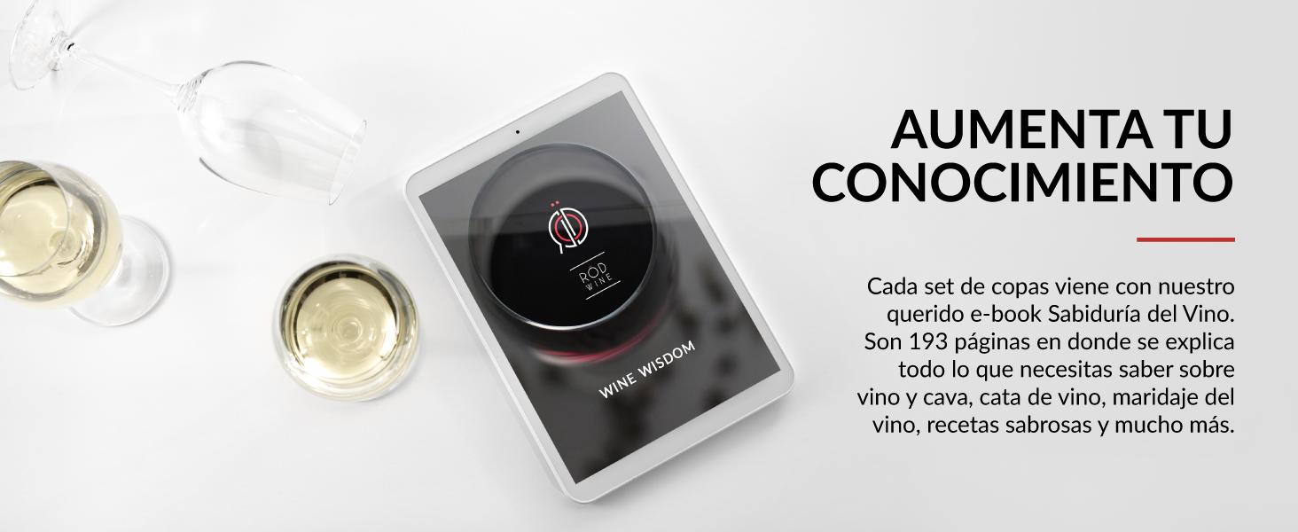 set de copas de vino copas de cava alta calidad con e-book de regalo