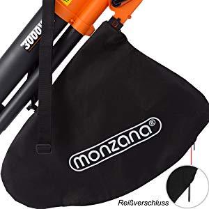 Monzana 3en1 soplador aspirador y trituradora de jardín máx 3000W para hojas papeles ramas con bolsa de recogida 45L: Amazon.es: Hogar