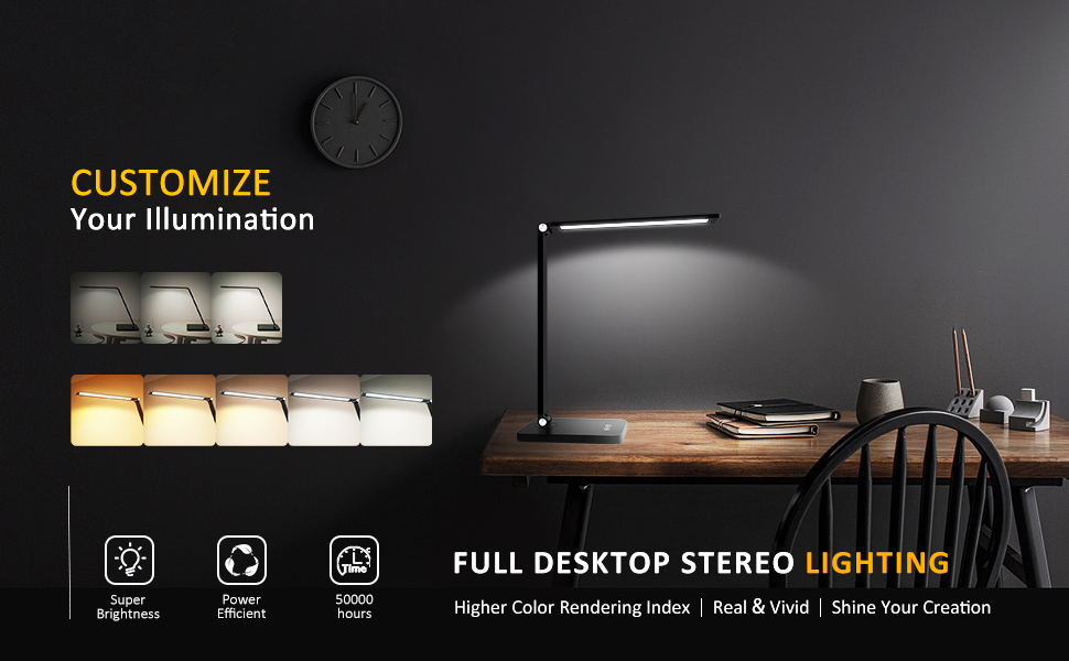 Eye-caring table lamps