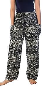 Grey elephant boho harem pants hippie trousers