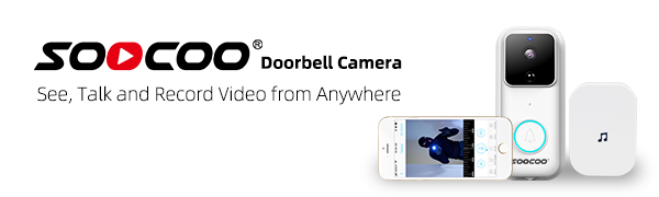 1080P WiFi Video Doorbell Smart Home Security Camera with Modern Design Chime for iOS Android
