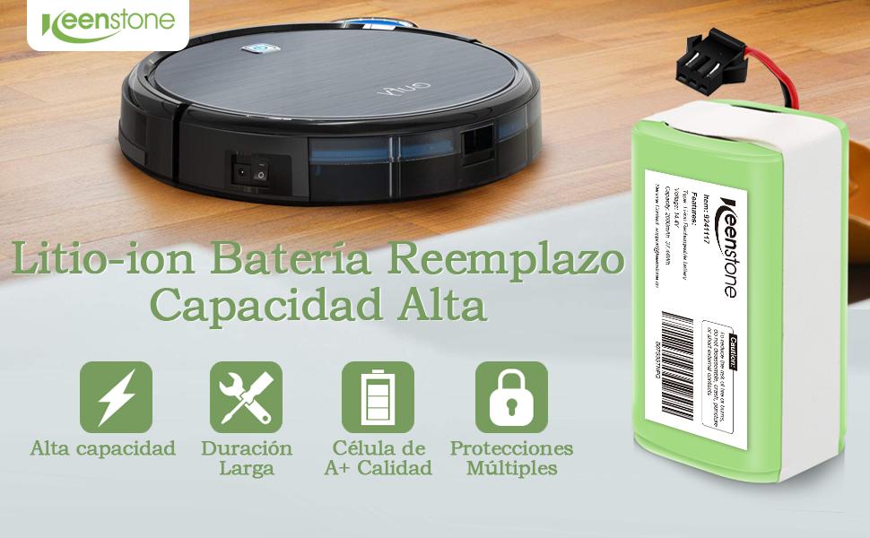 Keenstone Batería de Reemplazo para Conga Excellence 990, 14.4V 2600mah Li-Ion, Compatible con Conga Excellence 990 950 1090 DEEBOT N79S N79 Eufy RoboVac 11 11S 30 30C 12 35C IKOHS NETBOT S14 S15: Amazon.es: Hogar