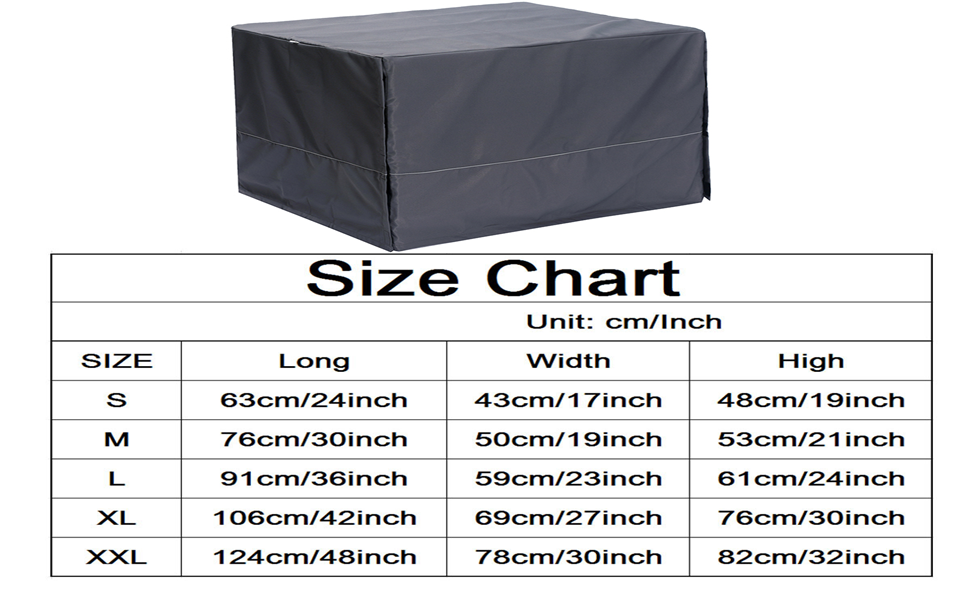 22 in 63cm dog crate cover