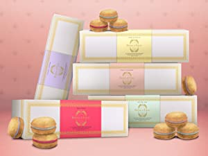 dog macaron snack biscuit training aid cookie treat gift flavors strawberry best lavender mint pup