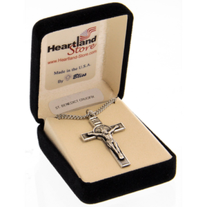 Sterling Silver Saint Benedict in Gift Box