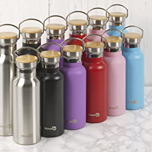 water bottle flask drink stainless steel straw