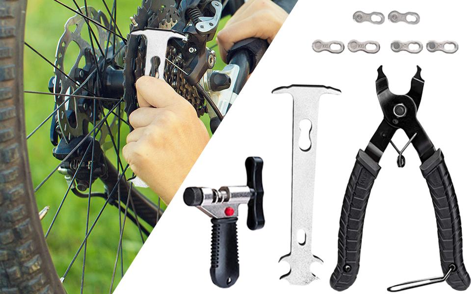 9er Fahrrad Link Zange+Fahrrad Ketten Werkzeug+Ketten Prüfer für Rennrad MTB