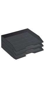Acrimet Stackable Letter Tray Side Load Black