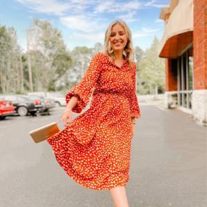 Women Boho Short Sleeve Polka Dot V Neck Midi Dress Ladies Summer Wrap Dresses