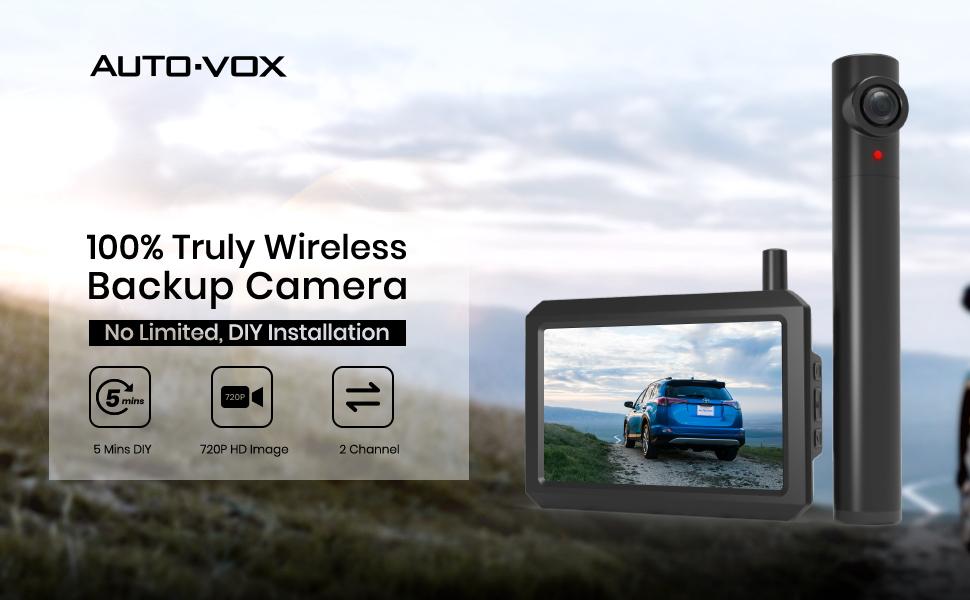 AUTO-VOX Truly wireless backup camera.