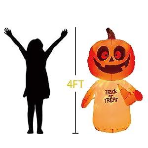 4 Feet Pumpkin Ghost  Inflatable
