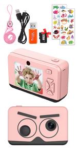 2.6 Inch 1080P Kids Camera (pink)