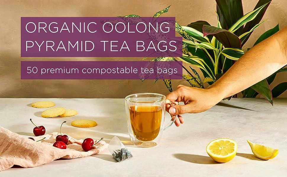 Organic Oolong Pyramid Tea Bags