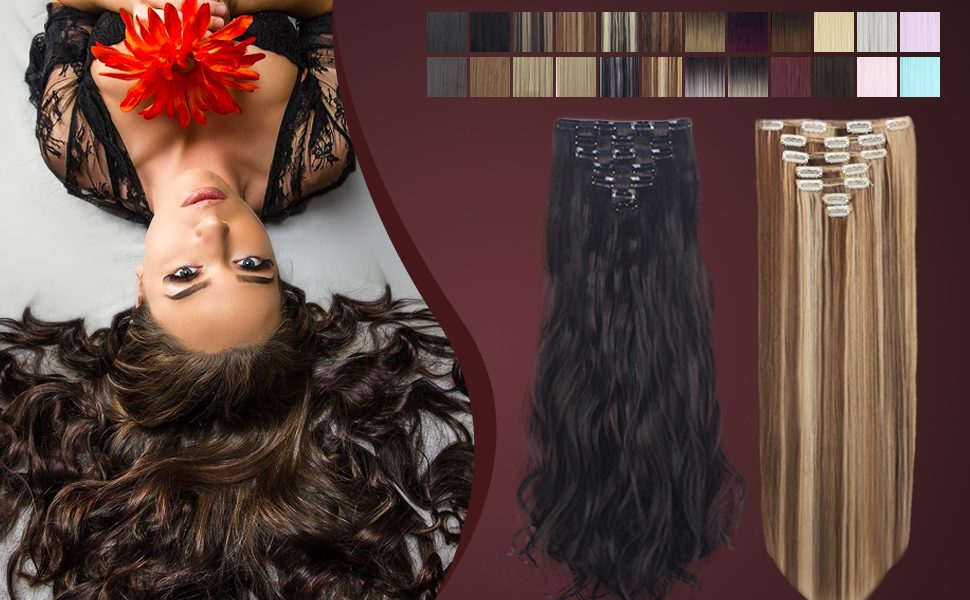 26 color hair extensions