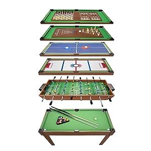 Play4fun Table Multi Jeux 20 En 1 Sur Pied Table De Jeux