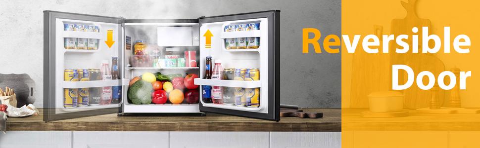 Compact refrigerator Mini fridge with freezer small refrigerator Energy Star Super Quiet Dorm Office