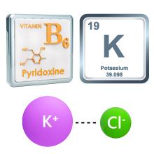 Vitamin B-6 and potassium