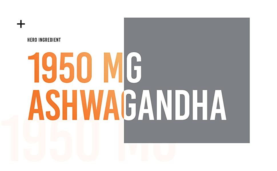 1950 mg high potency ashwagandha hero ingredient
