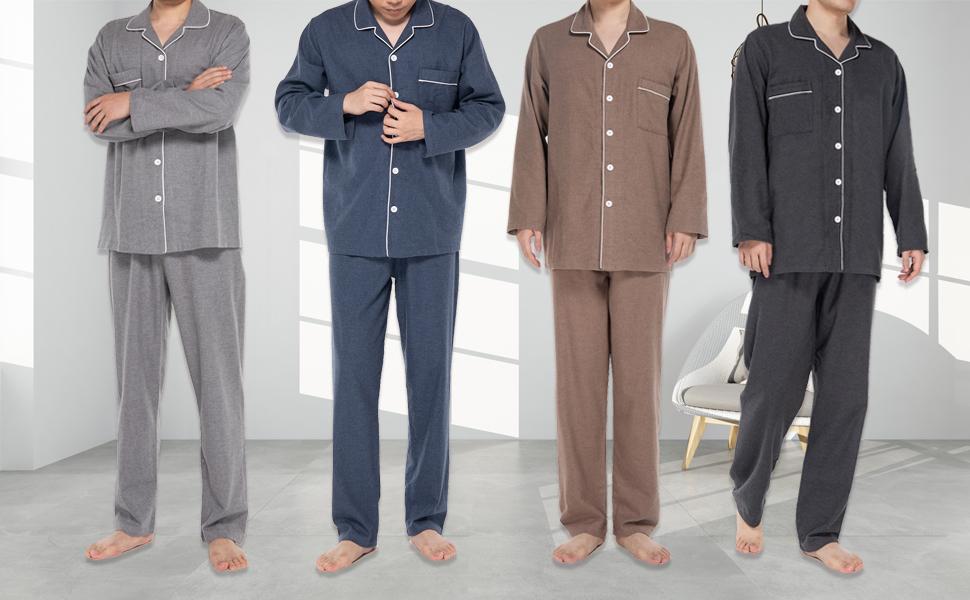JSTEX Mens Flannel Sleepwear