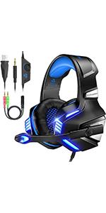 blue gaming headset