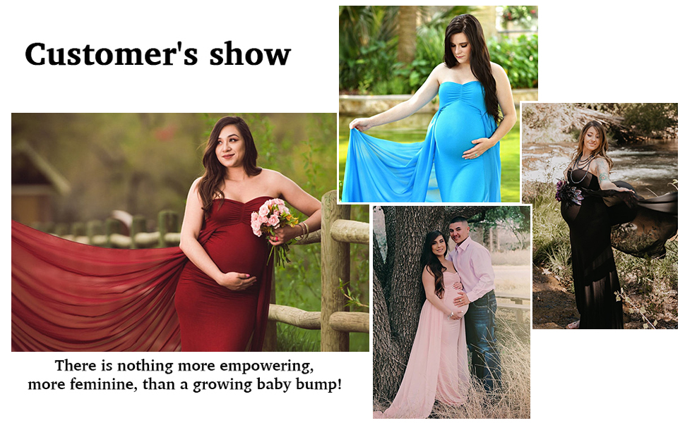 maternity photoshot gown