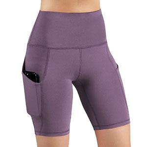 "ODODOS Side Pocket High Waist 8"" Yoga Shorts"