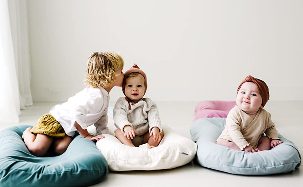 Snuggle Me Organic Bare Baby Lounger & Infant Nest Newborn Pillow & Floor Seat Organic Cotton