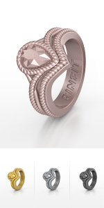 Rose Gold Silicone Rings- Rinfit Diamond Collection