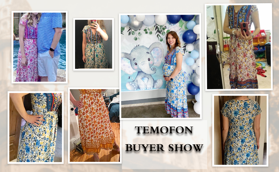 maxi length dress, ankle length dress button up dress high waist elastic waist short sleeves dress