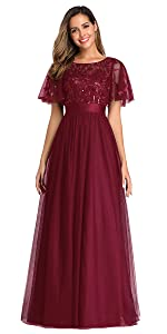 sequin and tulle party dress wedding guest dress