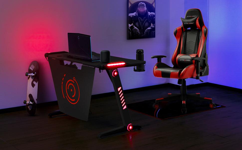 gaming chair+ gaming desk