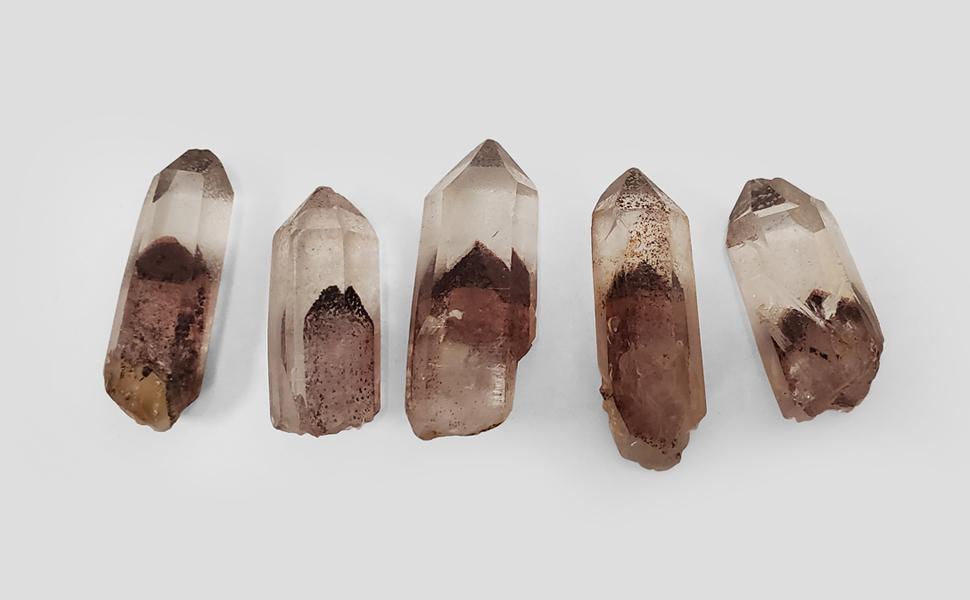Very Rare Phantom Quartz Crystal Gemstone Mineral Specimen Perfect Terminations