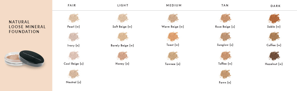 loose face powder foundation mineral finishing makeup coverage light control shine matte pressed
