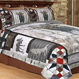 moose quilt in aspen display bedding