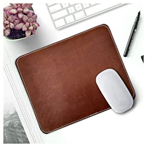 thin mouse pad gaming desk small laptop computer cool hard leather apple women travel portable pc