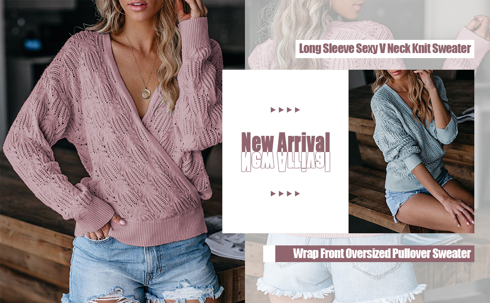 Wrap Front Sweater for Women