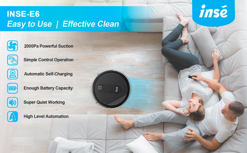 INSE E6 robot vacuum cleaner