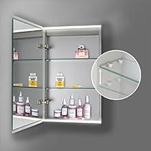 led lighted bathroom medicine cabinet