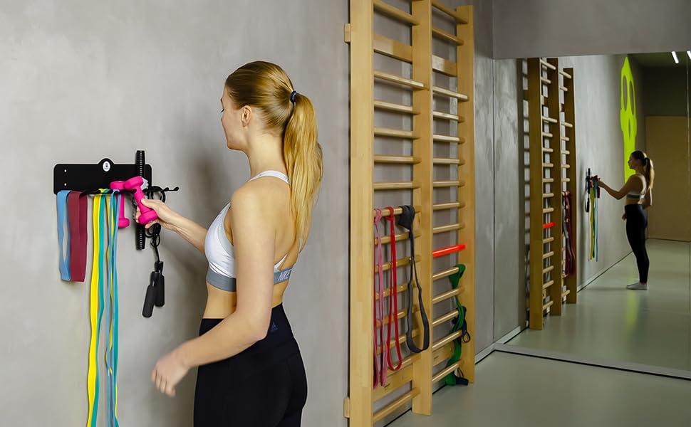 Gym Storage Rack Organizer