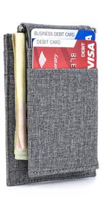 The Latcher and The Ryd - Cartera minimalista con 9 ranuras para tarjetas de crédito de Dockem