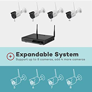 wireless security camera system 1080p audio  【Expandable 8CH, Audio】 ONWOTE 1080P Wireless WiFi Security Camera System Outdoor, 8 Channel NVR, (4) 1080P 2.0MP IP Security Surveillance Cameras for Home, One-Way Audio, 80ft IR, No Hard Drive 201282a9 861b 4f12 8353 0dabc49ebc89