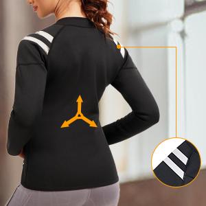 SCARBORO Women Neoprene Sauna Suits Long Sleeve Running Workout Jacket -10
