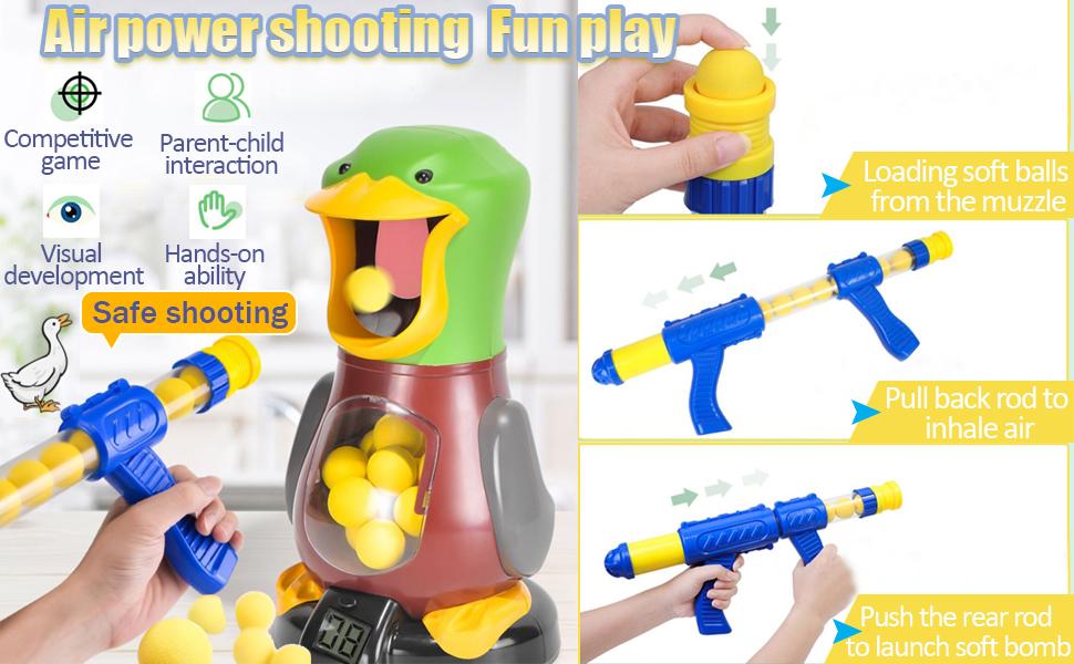 Air pump gun soft ball shooting toy