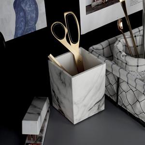 kids desk pencil holder cup Desktop Stationery Organizer Desk Accessories ABS acrylic square