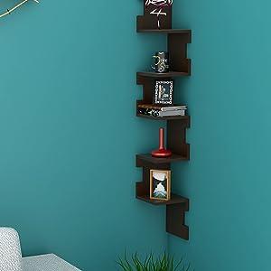 wooden floating shelf
