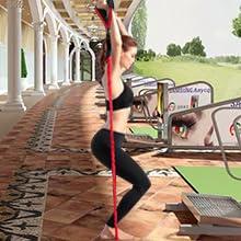 Uvistare Fasce di Resistenza Kit 11PCS, Bande Elastiche per Fitness/Palestra Livelli di Resistenza Corda Elastici da Pilates Gym Yoga Fisioterapia con Maniglia/Gancio