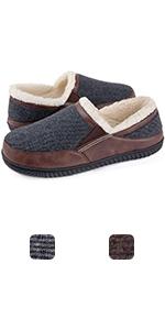 ULTRAIDEAS Men's Memory Foam Slippers with Cozy Fleece Lining