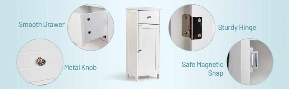 Bathroom Floor Storage Cabinet