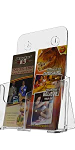 Marketing Holders Dual Tri-Fold or One Magazine Holder Display Stand