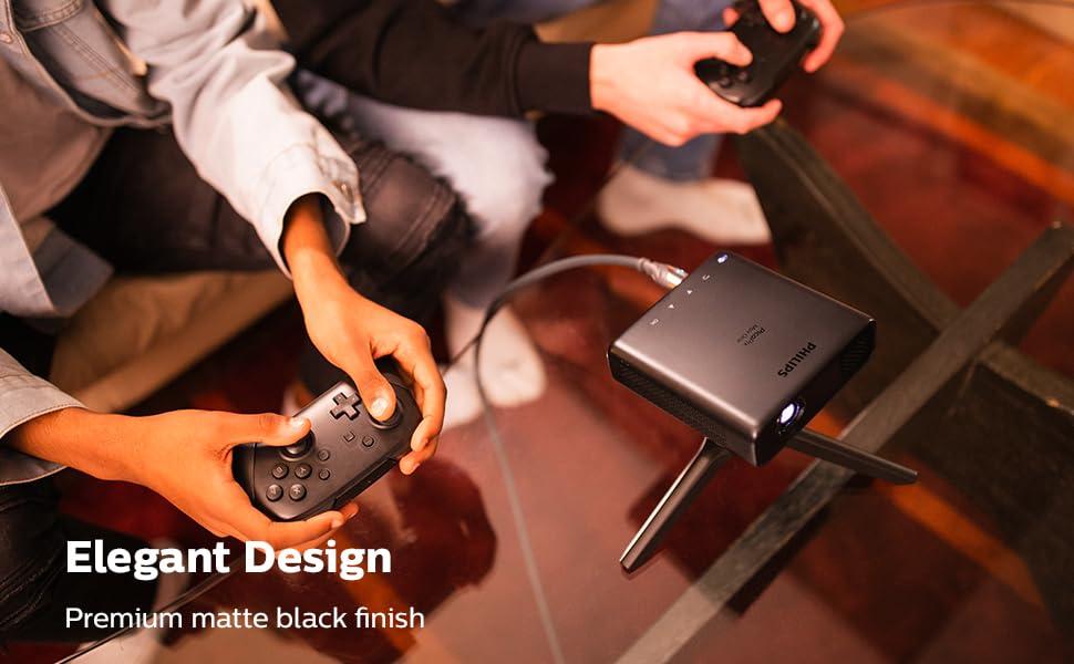 elegant design premium matte black finish